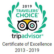 TripAdvisor Certificate of Excellence 2013 - 2018