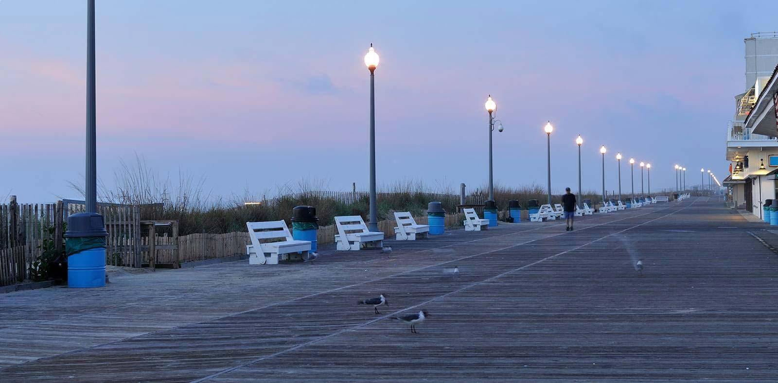 Rehoboth Beach Boardwalk of Delaware