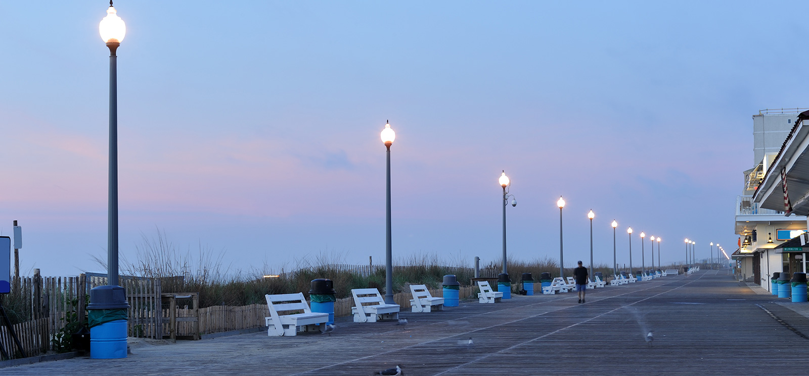 Rehoboth Beach Boardwalk At Delaware