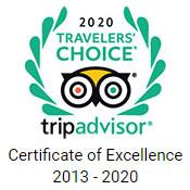 TripAdvisor Certificate of Excellence 2013 - 2018
